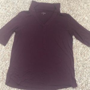 Cleo size small crewneck plum blouse